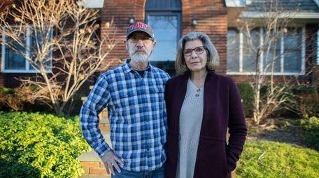 Mark and Marcie Herzog, of Rockville Centre, outside