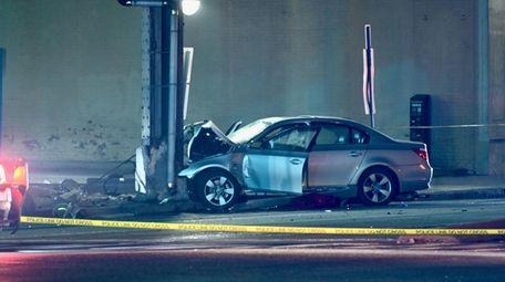 A car, whose driver Nassau County police said