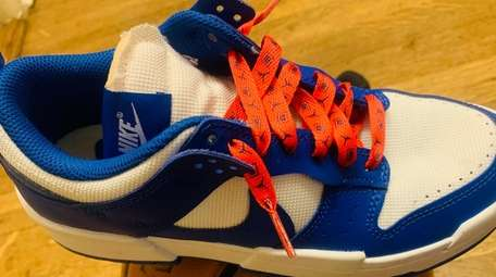 A pair of shoelaces Rising Stars participants use