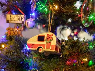 Christmas ornaments at Janet Moskos home in Hicksville