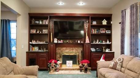 Holiday decorations at Liz Savitsky's home in Huntington