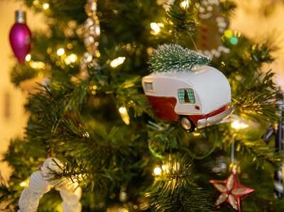 Christmas ornaments at Janet Moskos' home in Hicksville