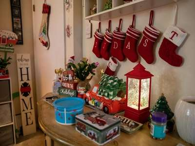 Christmas decorations at Janet Moskos' home in Hicksville