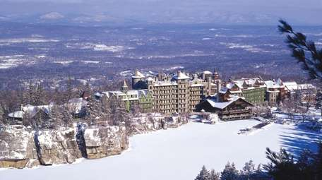 The Mohonk Mountain House.