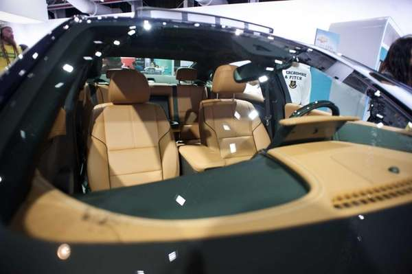 The leather interior of a $27,000 Chevrolet Imapala,