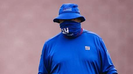 Freddie Kitchens at Giants training camp on Aug.