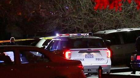 Suffolk County police responded Tuesday after a man