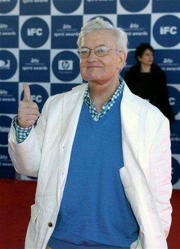 Roger Ebert arrives for the 2004 IFP Independent