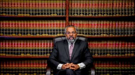 Attorney Fred Brewington at his office in Hempstead