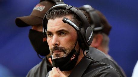Cleveland Browns head coach Kevin Stefanski looks on