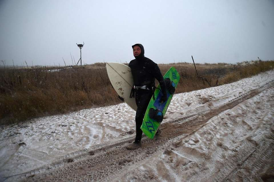 Wind surfer Marty Johnson of East Quogue, cut