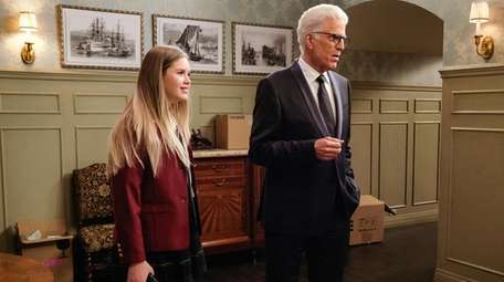 Kyla Kenedy and Ted Danson on NBC's