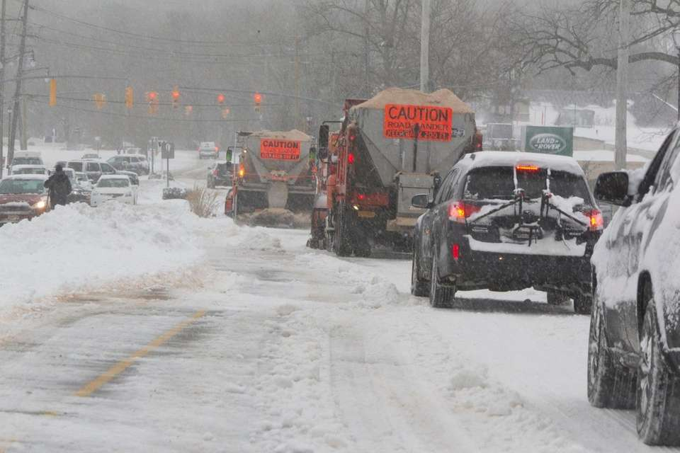 Heavy snow removal equipment, plows, payloaders were used