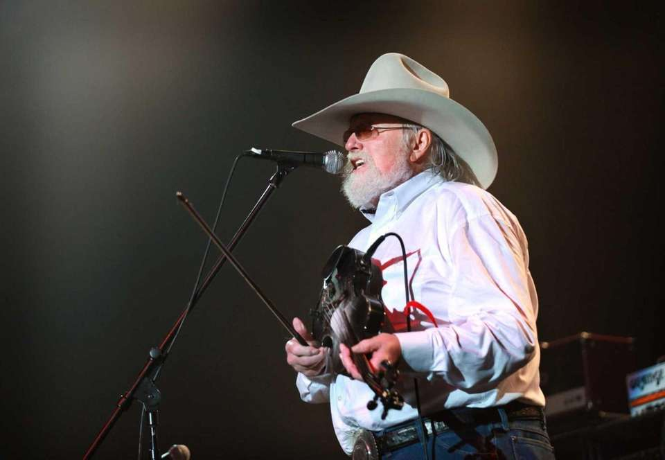 Musician Charlie Daniels performs at the Long Island
