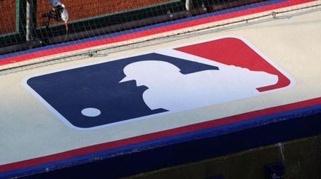 The Major League Baseball logo atop the Philadelphia