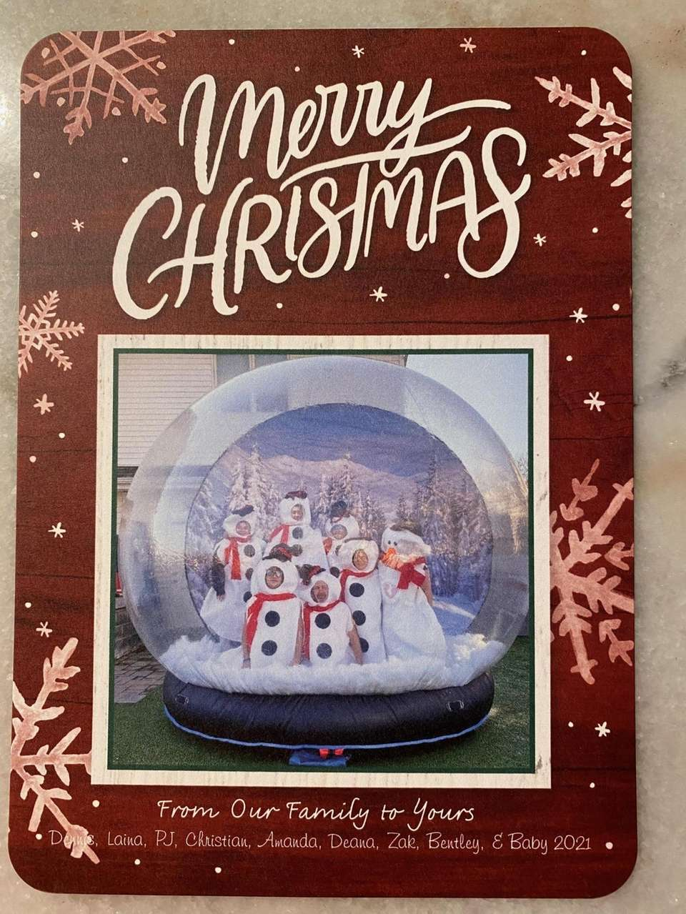 This family's tradition: snow globe fun in the
