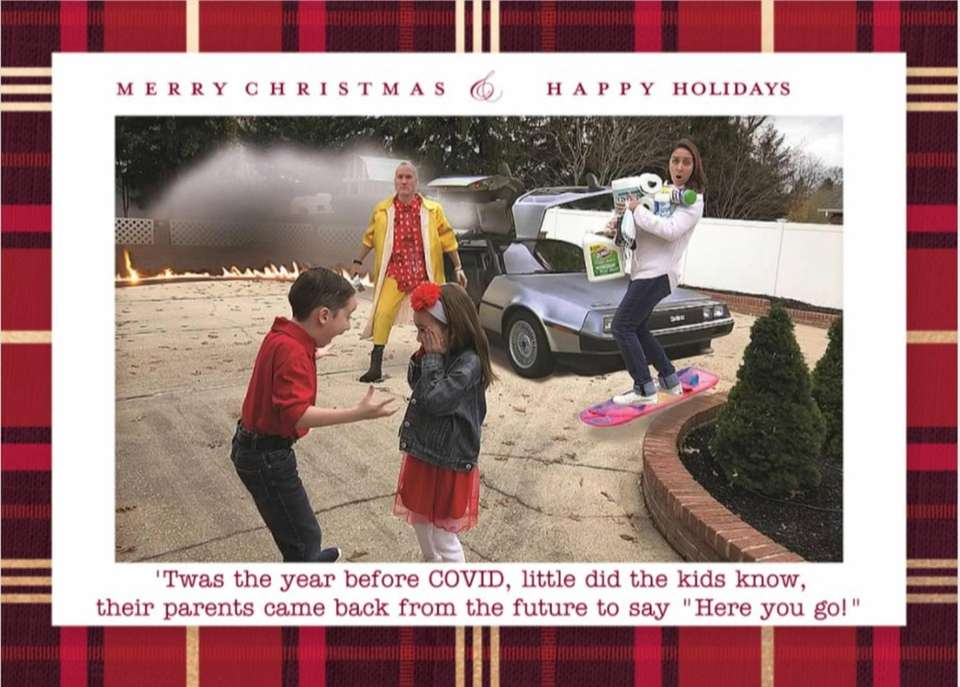 The Hall family 2020 Christmas card: Lawrence Hall