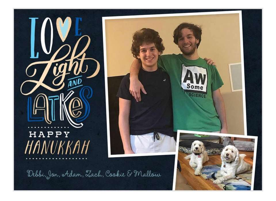 Happy Hanukkah! Zach Spiegel, 17, and Adam Spiegel,