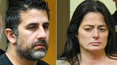 Michael Valva and Angelina Pollina, inside Suffolk Court