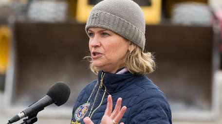 Nassau County Executive Laura Curran delivers an update