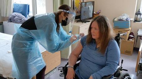 Debbie Grosser, a resident at Gurwin Jewish Nursing
