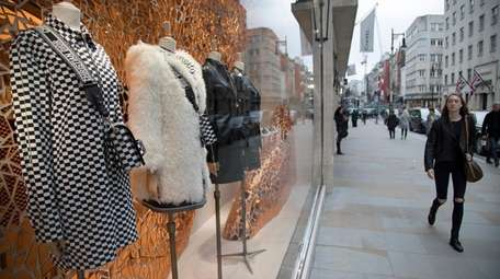 Exclusive clothes shop window of Dior on New