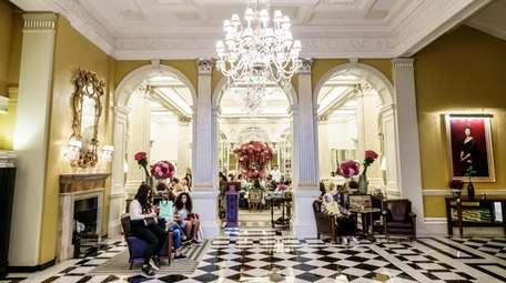 The lobby at London's Claridge hotel, which hosts