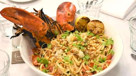 A lobster pasta dish is among the menu