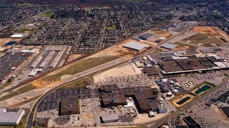 An aerial view of the Northrup Grumman site