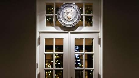 A door to the West Wing on Tuesday.