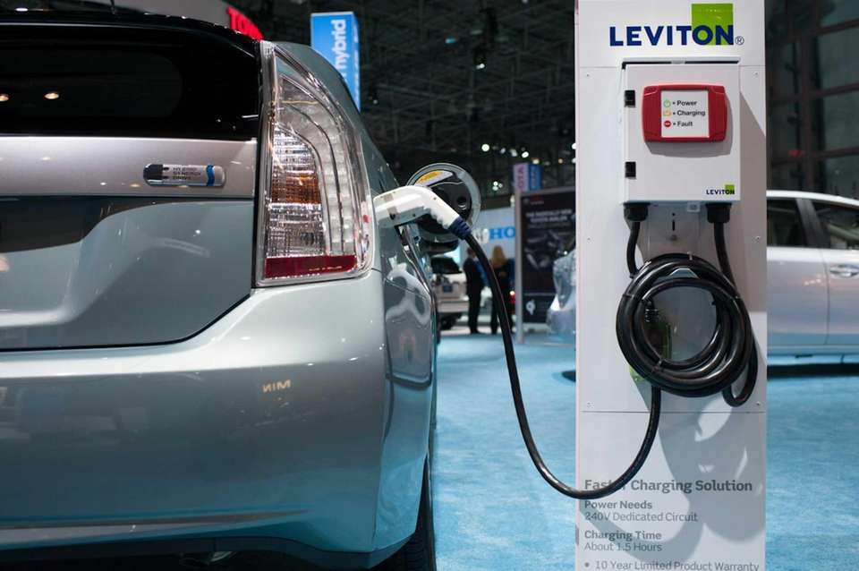 Toyota's Prius Plug-in Hybrid is on display at