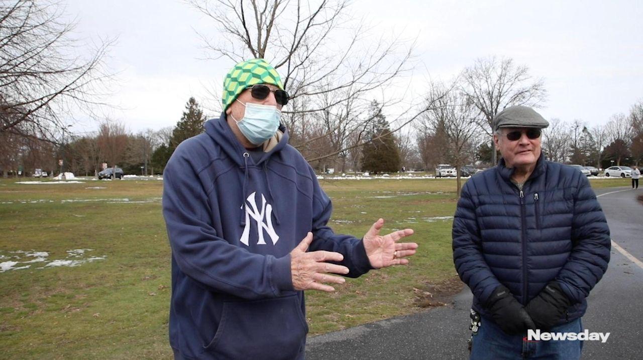 Long Islanders at Eisenhower Park on Thursday talked