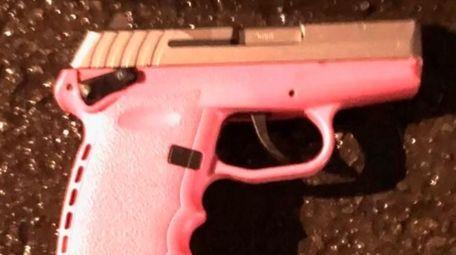 A gun the NYPD said a man fired
