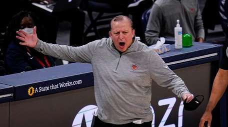 New York Knicks head coach Tom Thibodeau questions