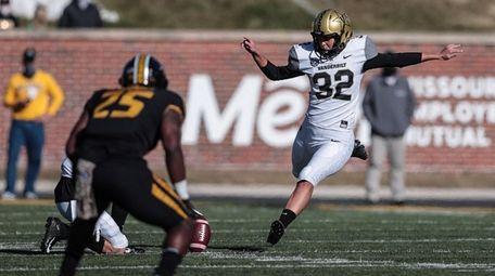 On Thanksgiving weekend, Vanderbilt's Sarah Fuller kicked off