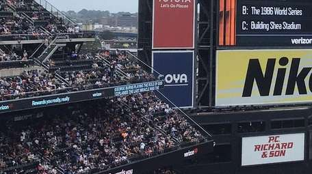 Closed captioning at Citi Field during a Mets