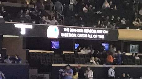 Closed captioning at Madison Square Garden during a