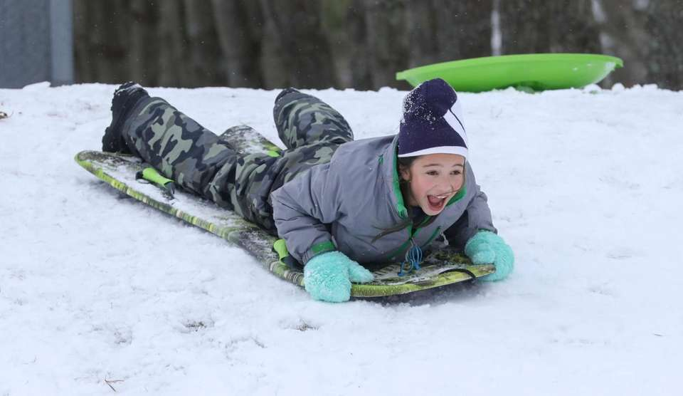 following the season's first snow fall, Riley Poole,