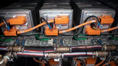 The hybrid cargo vessel has two diesel generators