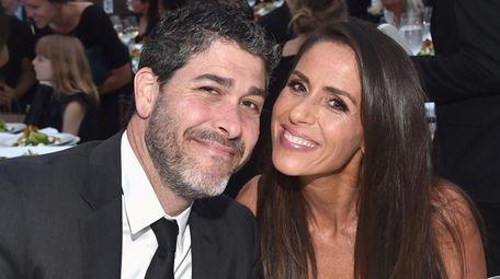 Jason Goldberg and wife Soleil Moon Frye, seen