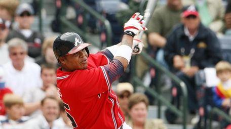 Andruw Jones of Atlanta Braves bats at Turner