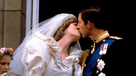 The newly married Prince and Princess of Wales