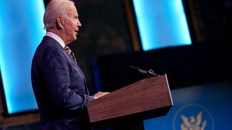 President-elect Joe Biden speaks at The Queen theater,