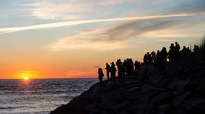The first sunrise of 2021 at Montauk Point