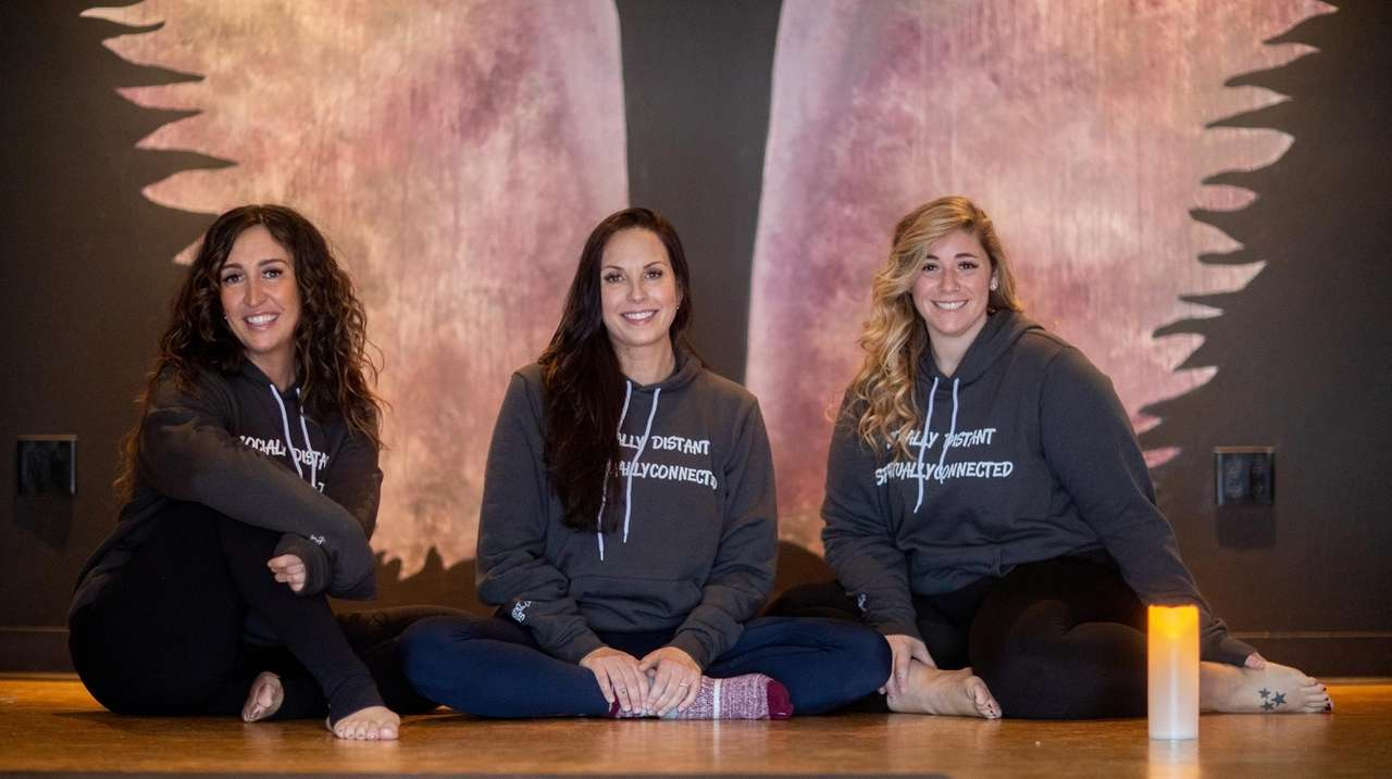 Chrissi Forde, Samantha Harris and Arielle Geller, co-owners