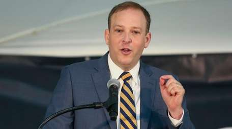 Rep. Lee Zeldin speaks at Brookhaven National Laboratory