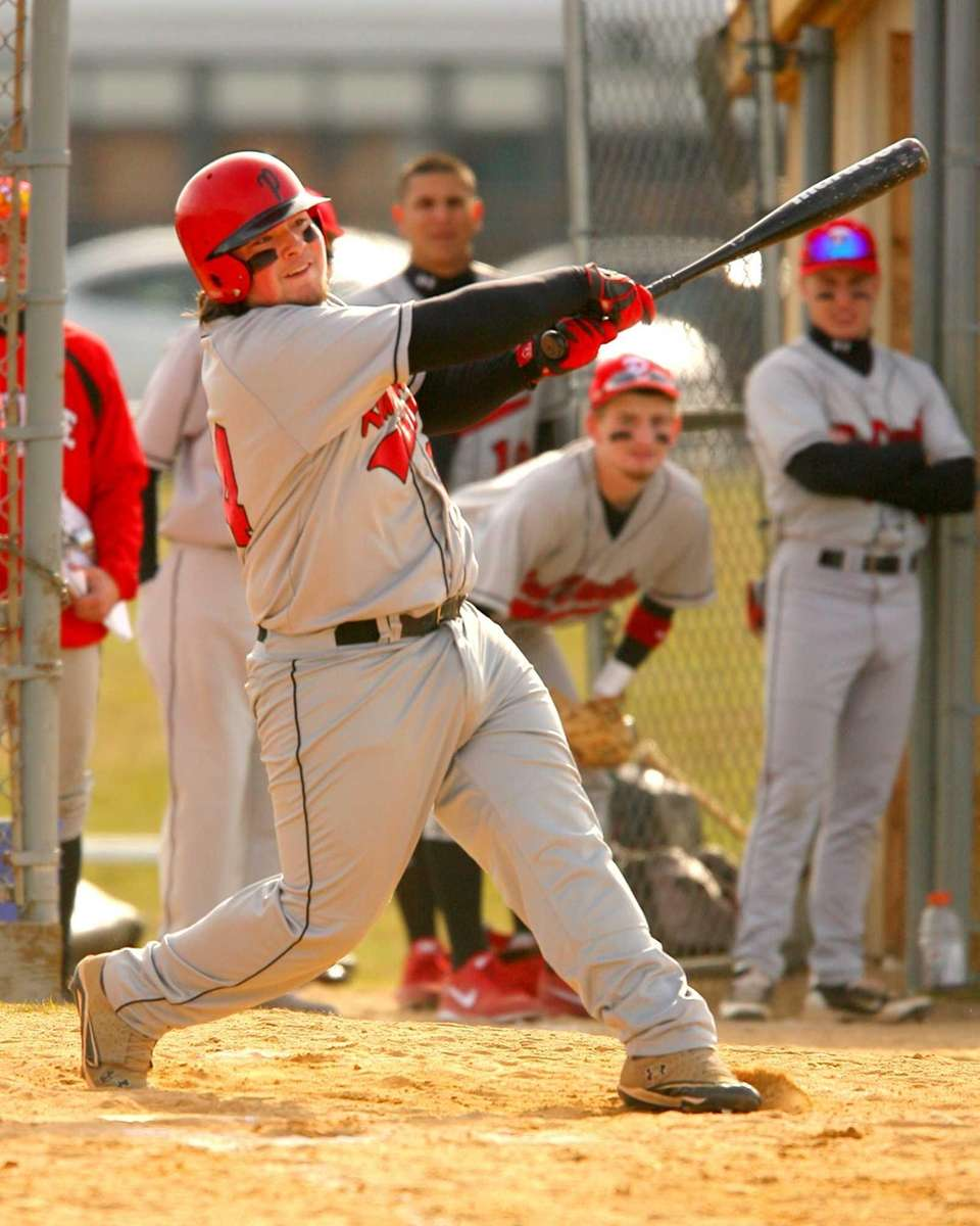 Plainedge's Richie Whalen puts a ball into play.