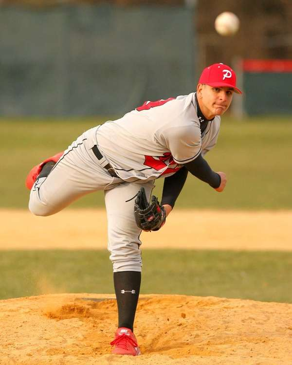 Plainedge's Anthony Pensato pitches against Clarke. (April 4,
