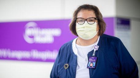 Retired nurse Diane Bendelier at NYU Langone Hospital-Long