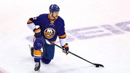 Matt Martin of the New York Islanders prior